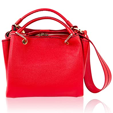 Image Unavailable. Image not available for. Color  Plinio Visona Italian  Designer Coral Red Leather Purse ... 582dcc0dbd929