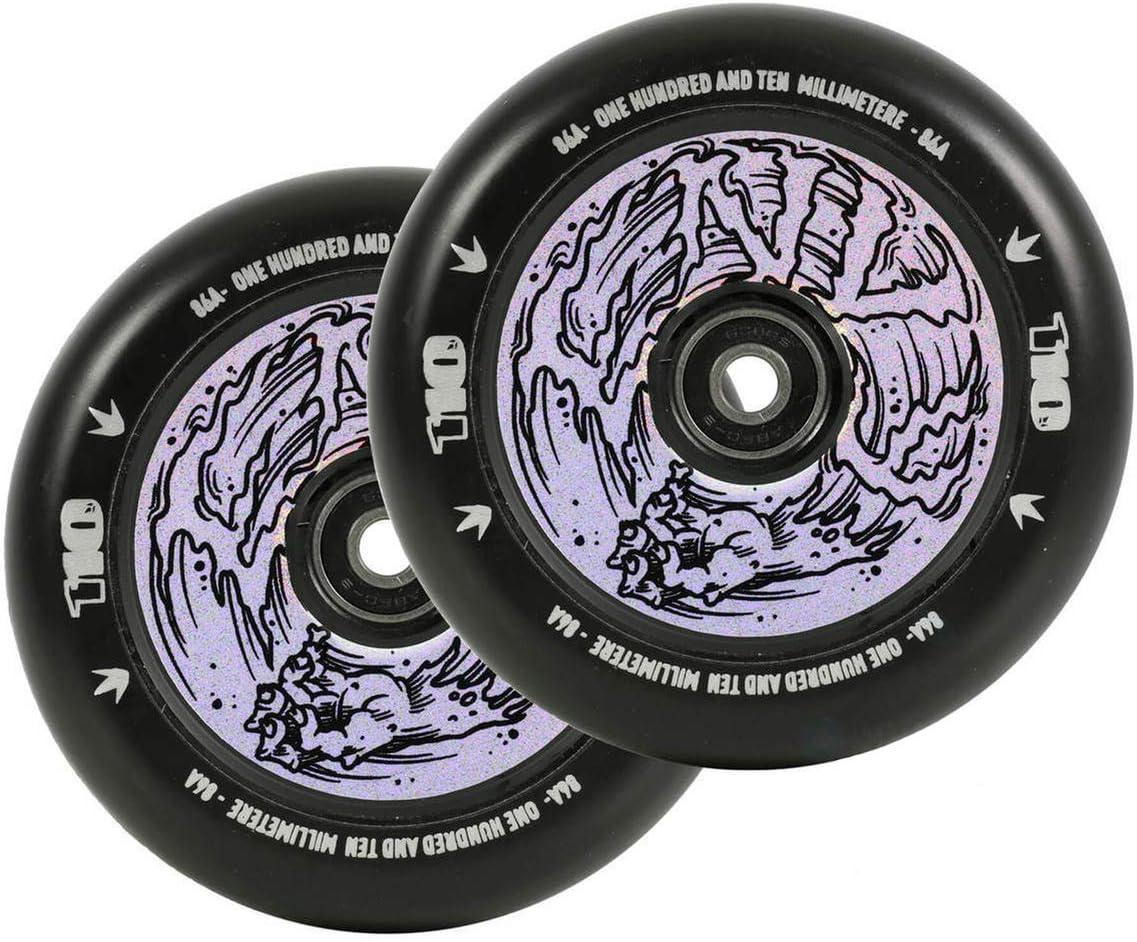 Black Envy Scooters Hollow Core Wheels 110mm Pair