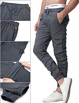 ZOEREA Pantalones Hombre Casuales Deporte Elásticos Joggers Largos ...