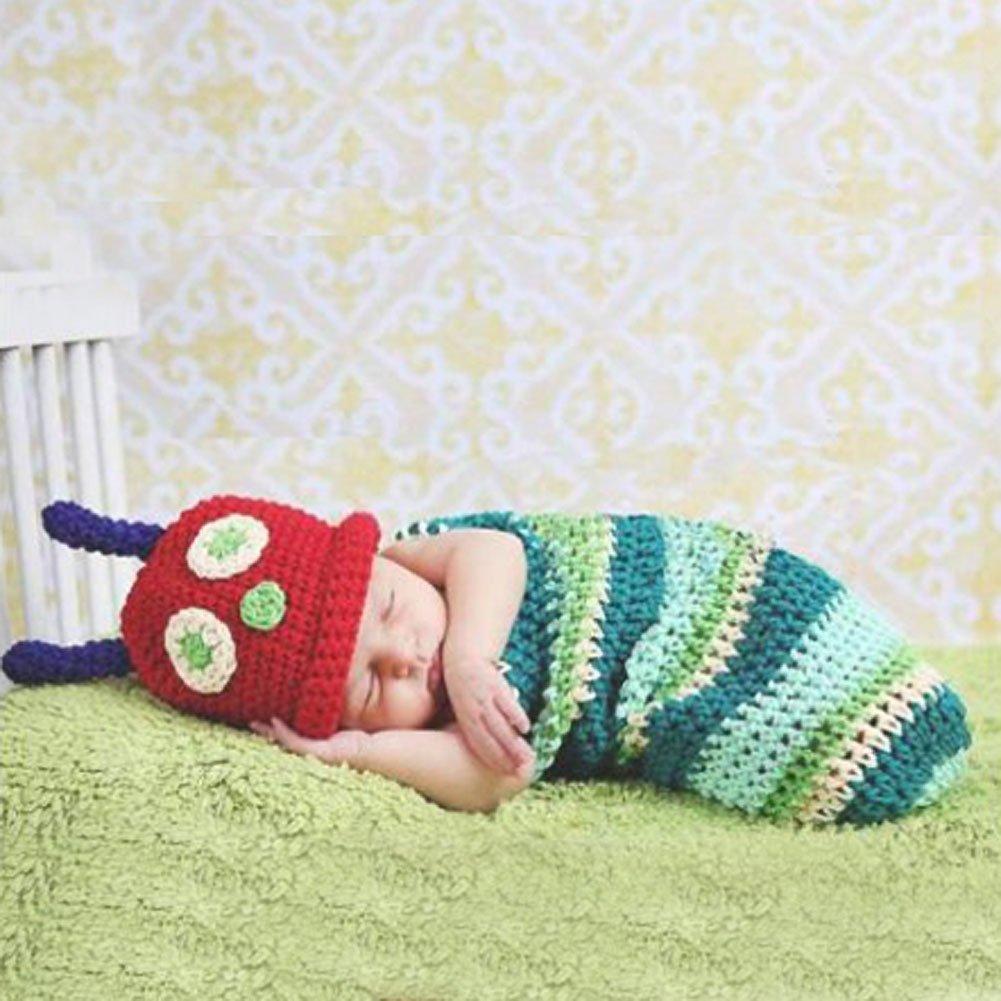 Baby Girls Boy Newborn-9M Knit Crochet Caterpillar Style Clothes ...