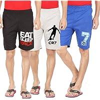 Hotfits Men's Cotton Self Design Shorts
