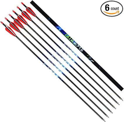"""Field Points Archery 30/"""" Mix Carbon Arrows Hunting Target Recurve Compound Bow"""