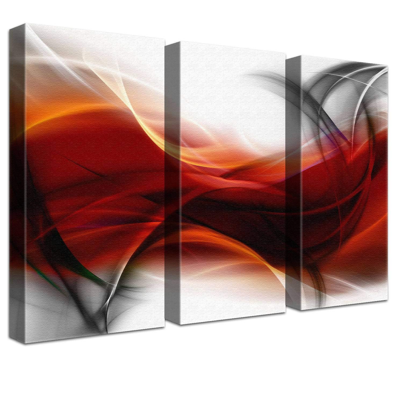 LANA KK Luxus Ausführung Leinwandbild Empfindung Star  Abstraktes Design auf 4cm Echtholz, Blau, 100 x 70 cm B074QSN8H4 | Abgabepreis