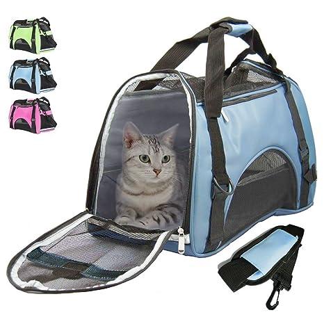 Airline - Bolsa de transporte para perros y gatos (lado suave, para viajes,