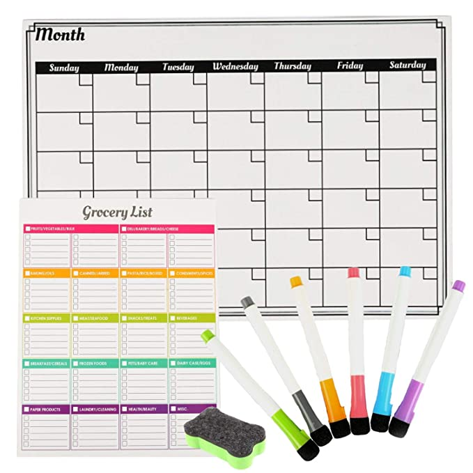 Calendario de borrado en seco Houseables, calendarios de pizarra ...