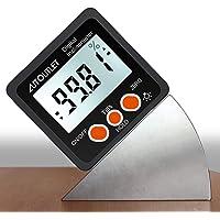 AUTOUTLET Digital lutningsmätare gradskiva 4 x 90° nivå låda vinkel upphittare bakgrundsbelysning nivåmätare med…