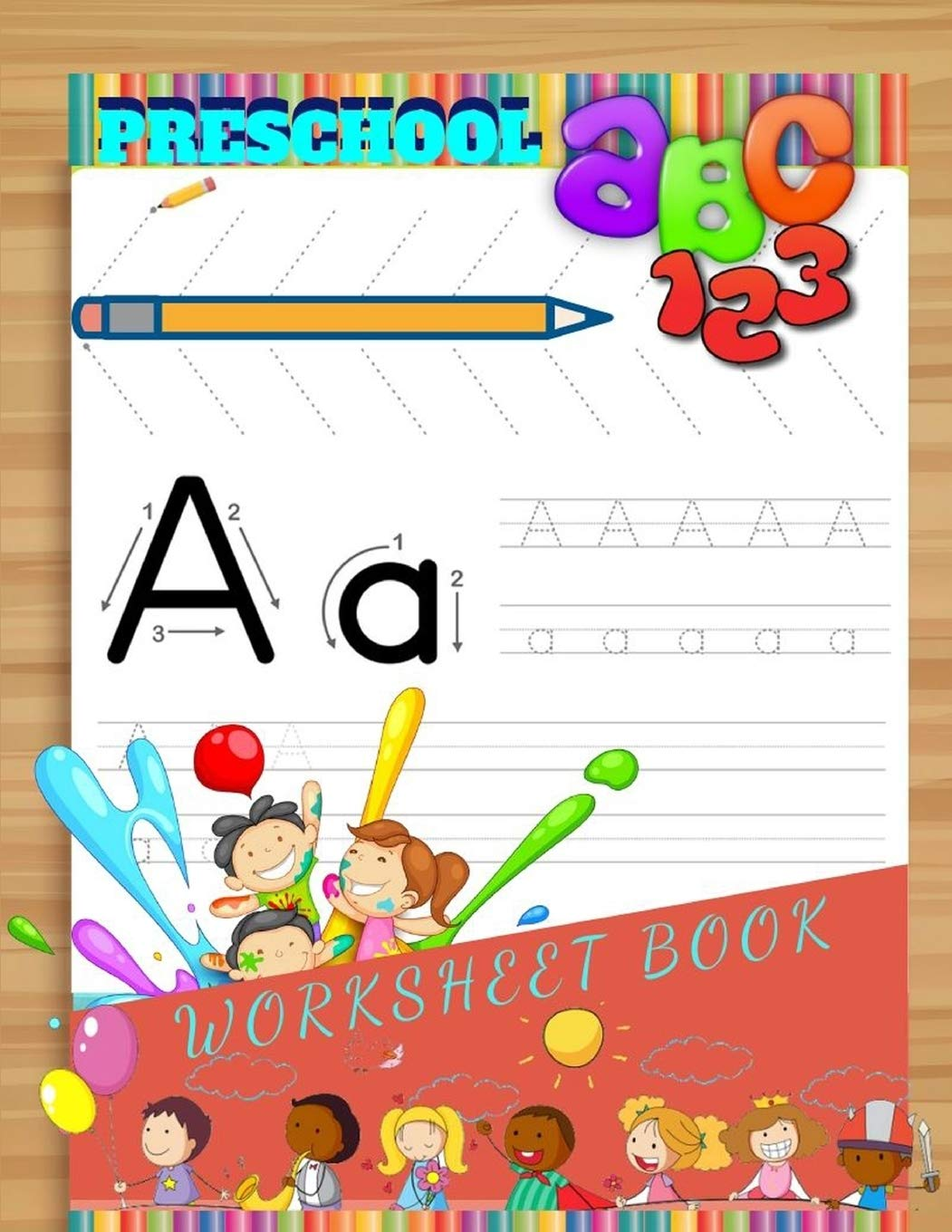 Preschool ABC 20 Worksheet Book Trace Letters Of The Alphabet ...