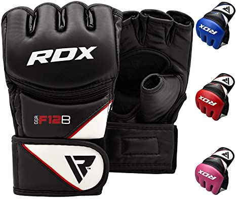 dd4c4be12d551 RDX MMA Gloves Grappling Martial Arts Sparring Punching Bag Cage Fighting  Maya Hide Leather Mitts UFC