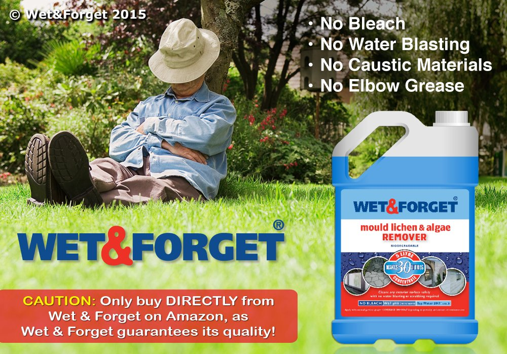 wet u0026 forget moss mould lichen u0026 algae remover 5 litre cleans anything with no effort amazoncouk garden u0026 outdoors
