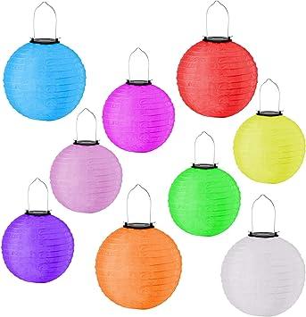 verschiedene Farben LED Papier-Lampion Ø 20 cm