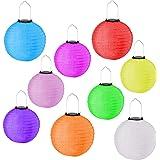 6er Set LED Papierlaterne Lampion Lampions Laterne Garten