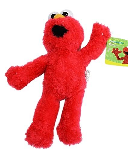 1d6e67537bb Amazon.com  Sesame Street's Elmo Small Size Kids Stuffed Plush Toy (10in)   Toys   Games