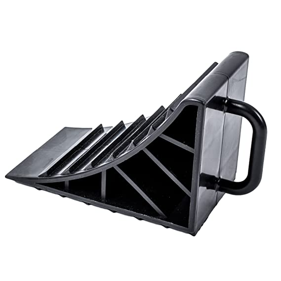 ProPlus - Calzo Plástico Negro Juego de 4 con mango para caravana, autocaravana y colgante: Amazon.es: Coche y moto