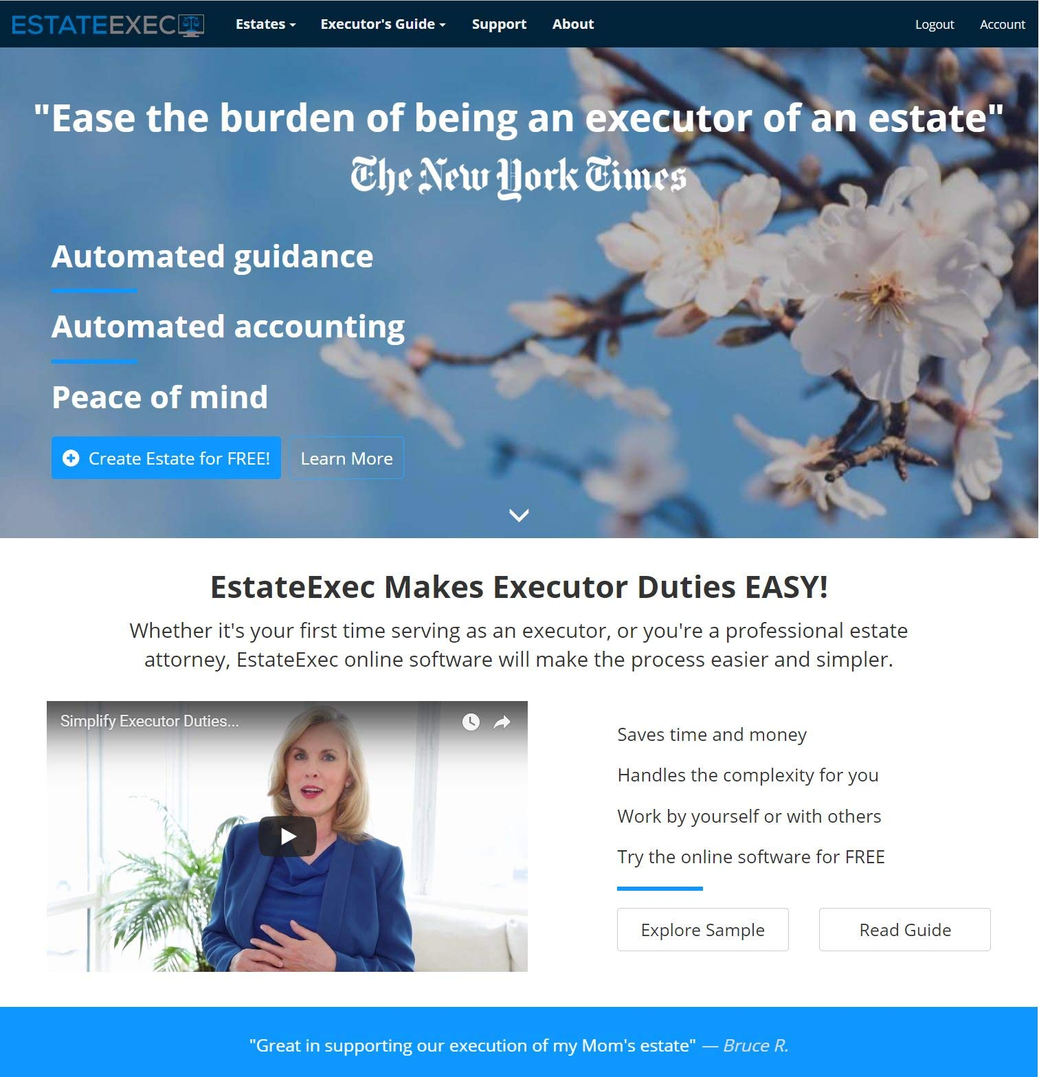 EstateExec Estate Executor Online Software by EstateExec