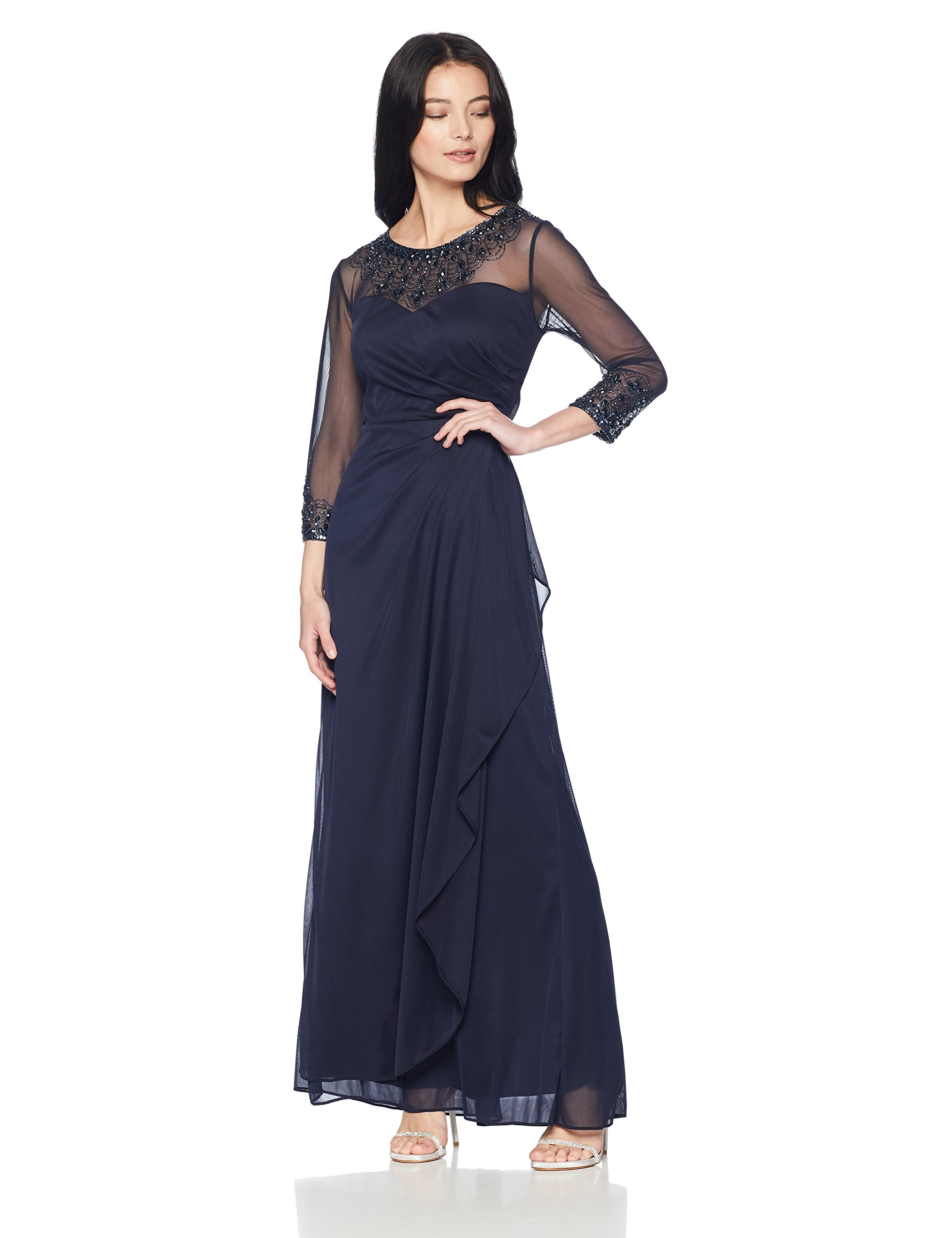 ac86fc0e9a9 Alex Evenings Women s Long A-Line Sweetheart Neck Dress (Petite and Regular  Sizes)