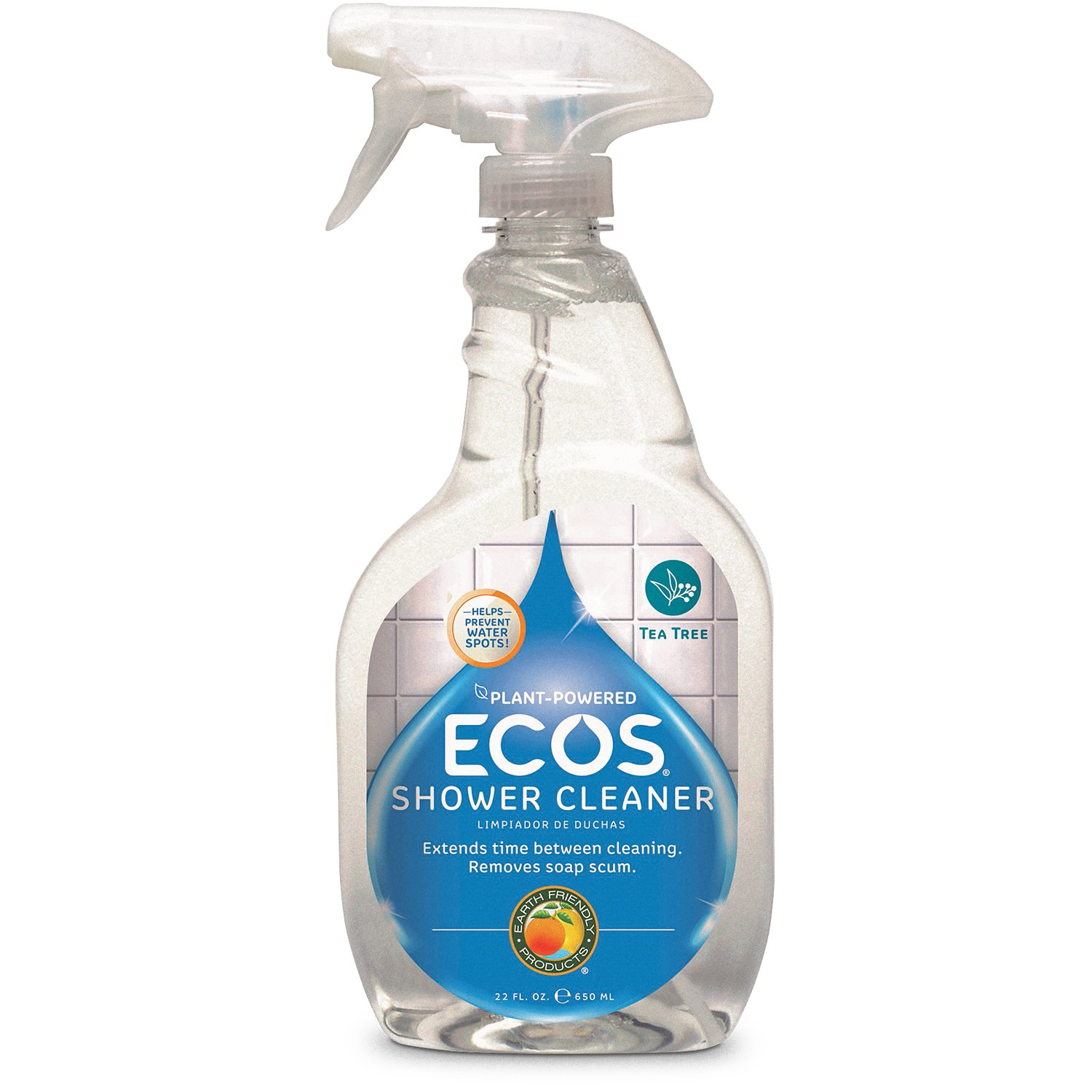 Earth Friendly Products ECOS Shower Cleaner with Tea Tree Oil, 22-Ounce (Pack of 2) by Earth Friendly Products