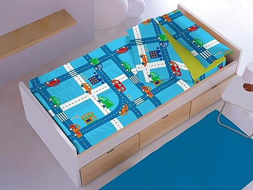 Saco N/órdico Infantil Circuit Denisa Home Cama 105cm Azul
