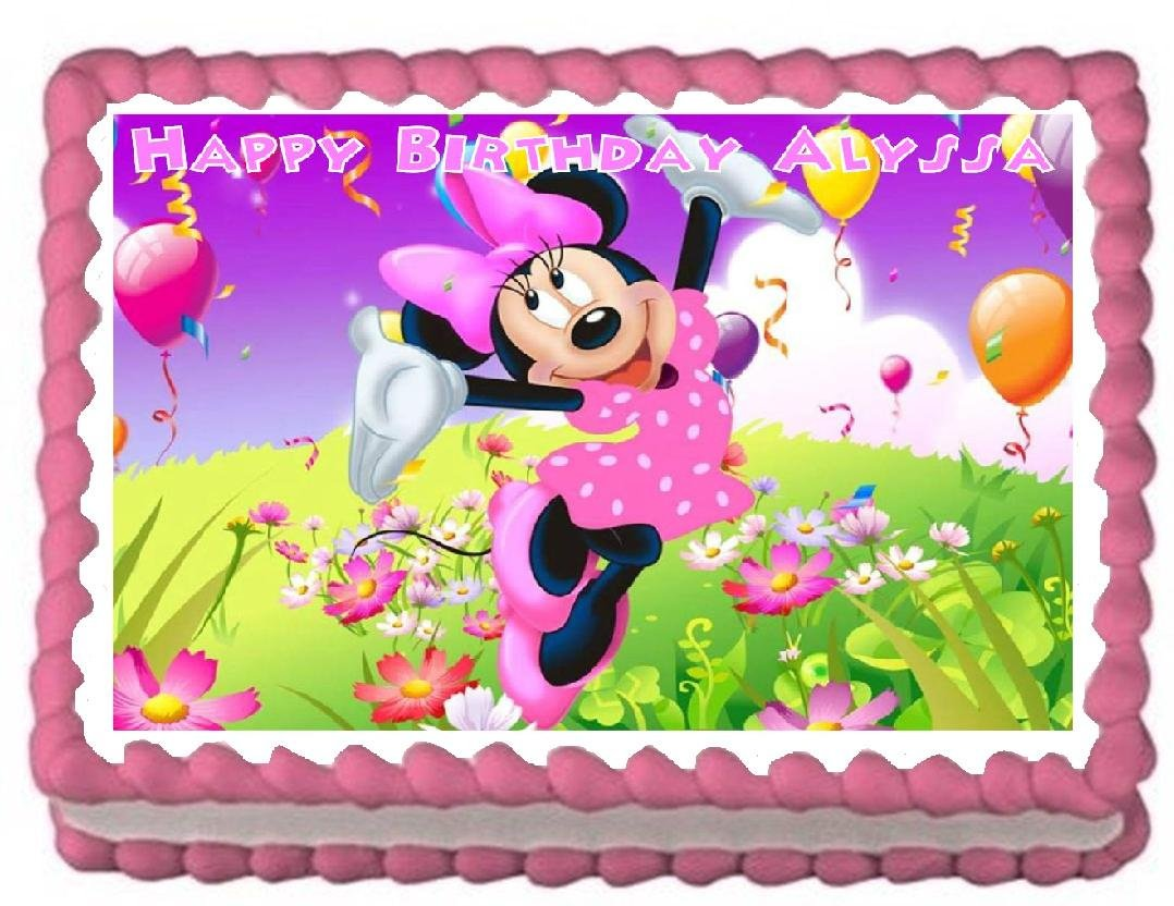 Amazon Minnie Mouse Party Edible Frosting Sheet Cake Topper 1