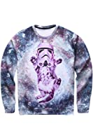 Pink Queen Pullover 3d Design Glasses Cat Printed Sweatshirt Sweater Hoodie
