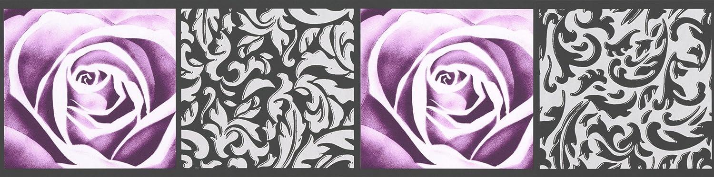 A.S Cr/éation Frise murale autocollant Stick Ups noir poupre 5,00 m x 0,13 m 901910
