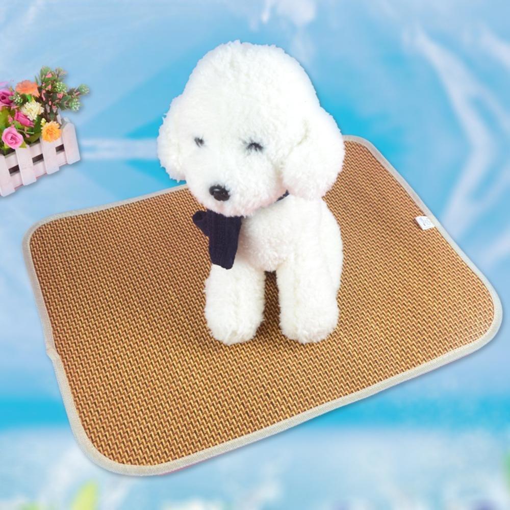 Dixinla Pet Bed Pet Mat Mat Cool Summer Cat Dog mat Pet Supplies Rattan
