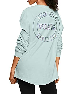 d01f5c2f70 Victoria s Secret Pink Bling Campus Henley Long-Sleeve Tee