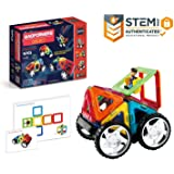 Magformers Vehicle Wow Set (16-pieces) Magnetic Building Blocks, Educational Magnetic Tiles Kit , Magnetic Construction STEM