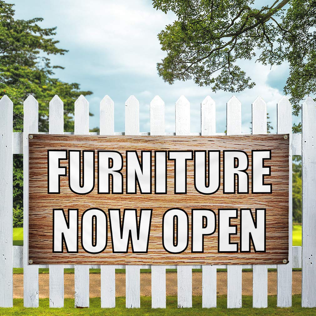69inx46in One Sticker Decal Sticker Multiple Sizes Furniture Now Open Retail Furniture Now Outdoor Store Sign Brown