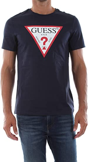 Guess M93I56 K8FQ0 Camisetas Y Camisa DE Tirantes Hombre BLU Navy XXL: Amazon.es: Ropa y accesorios