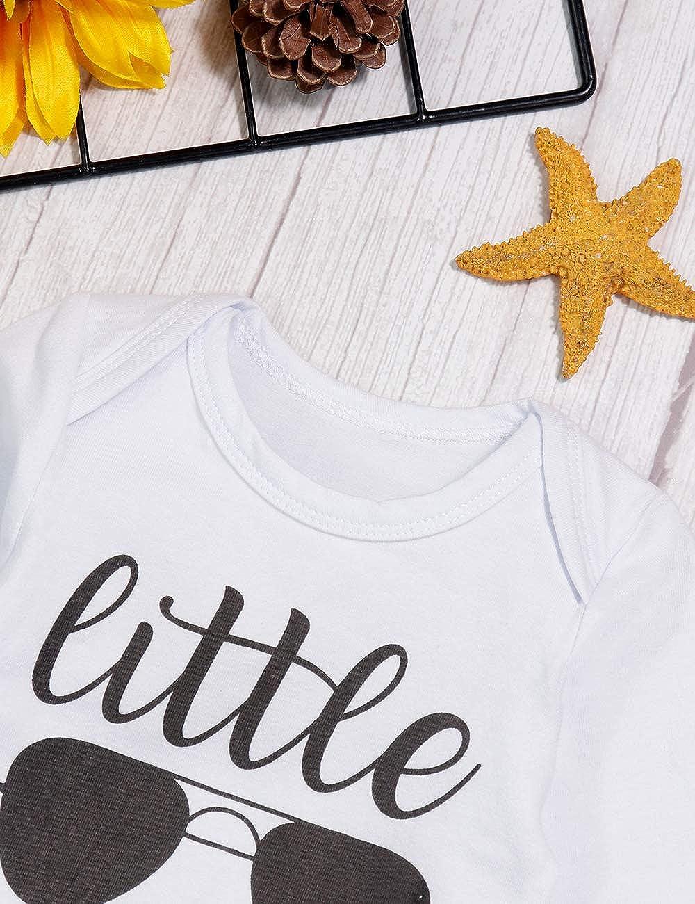 Newborn Baby Boy Clothes Little Brother 3pcs Outfits Romper Hat Pants Autumn Winter Elephant Print Sets