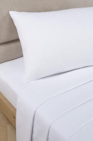 Bedding Heaven 2u0027 6u0026quot; Percale 180 Thread Count Fitted Sheet. WHITE.  Ideal