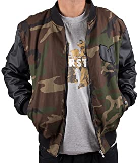 db7e548af Wu-Wear Protect Ya Neck College Bomber Jacket Camouflage Wu-Tang Clan M-