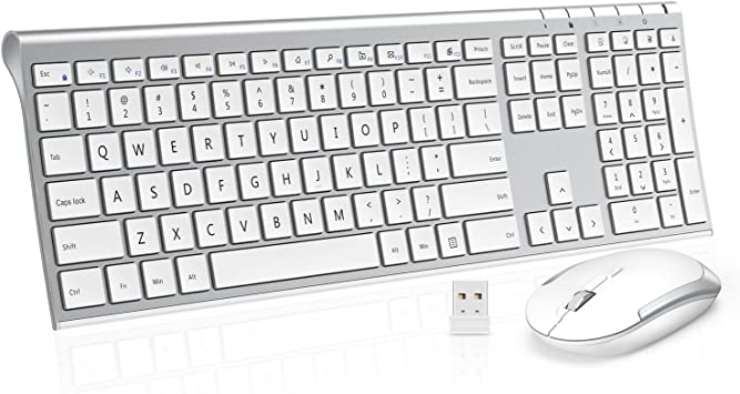 Color : Gold ASdf Office Home Desktop Notebook Keyboard and Mouse Set Ultra-Thin Silent Mute Wireless Keyboard and Mouse
