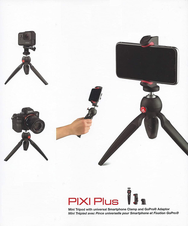 Manfrotto Pixi Plus Mini trípode con Abrazadera Universal para ...