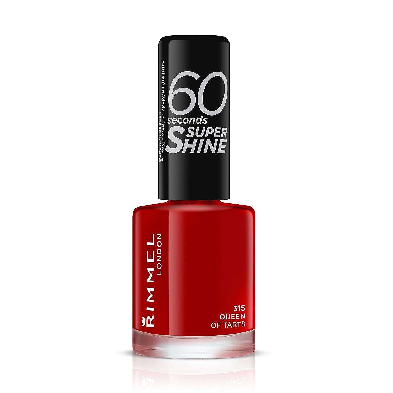 03266ea7b2112 Rimmel 60 Seconds Super Shine Nail Polish - 8 ml, Queen of Tarts:  Amazon.co.uk: Beauty