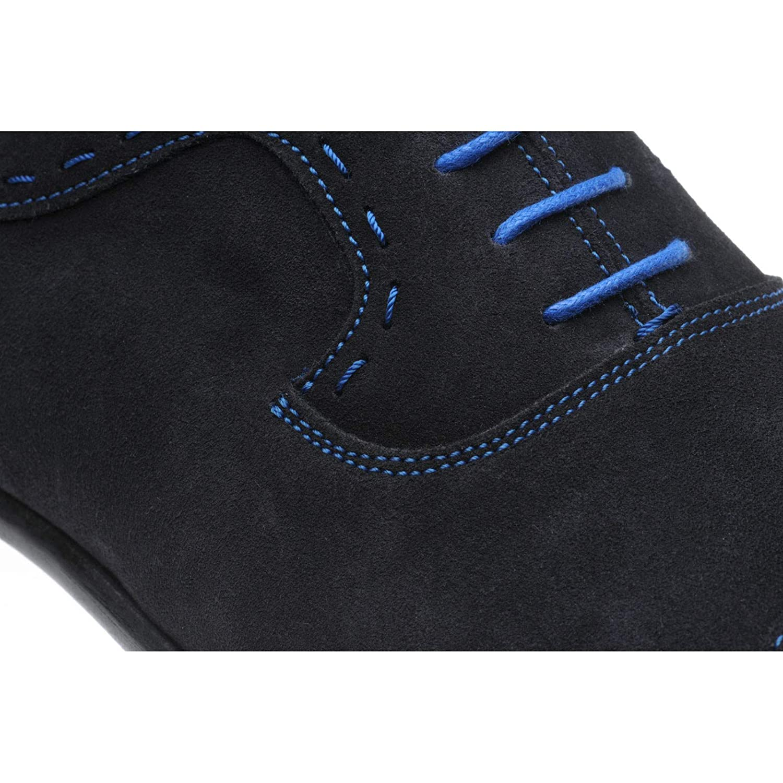 Herring 145127071, Herren Schnürhalbschuhe (Veloursleder) Blau Marineblau (Veloursleder) Schnürhalbschuhe - c36255