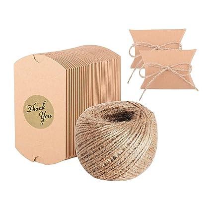 X-Mile 100x Bolsas de regalo cajas para regalo de carton Bolsas con 100 Pack