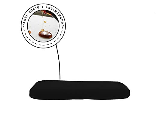 Banzaii Funda Sofa Elastica con Funda Asiento Impermeable – Cubre Sofa con Cojin – Protector Sofa con Asiento Separado - Poliéster (VR.10 Negro, Cojín ...