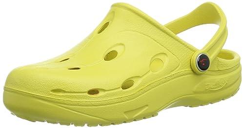 Chung Shi DUX SENSI - Zuecos de material sintético unisex, color amarillo, talla 38