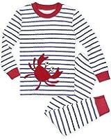 Sara's Prints Little Boys' Quality Cotton Long John Pajama Set
