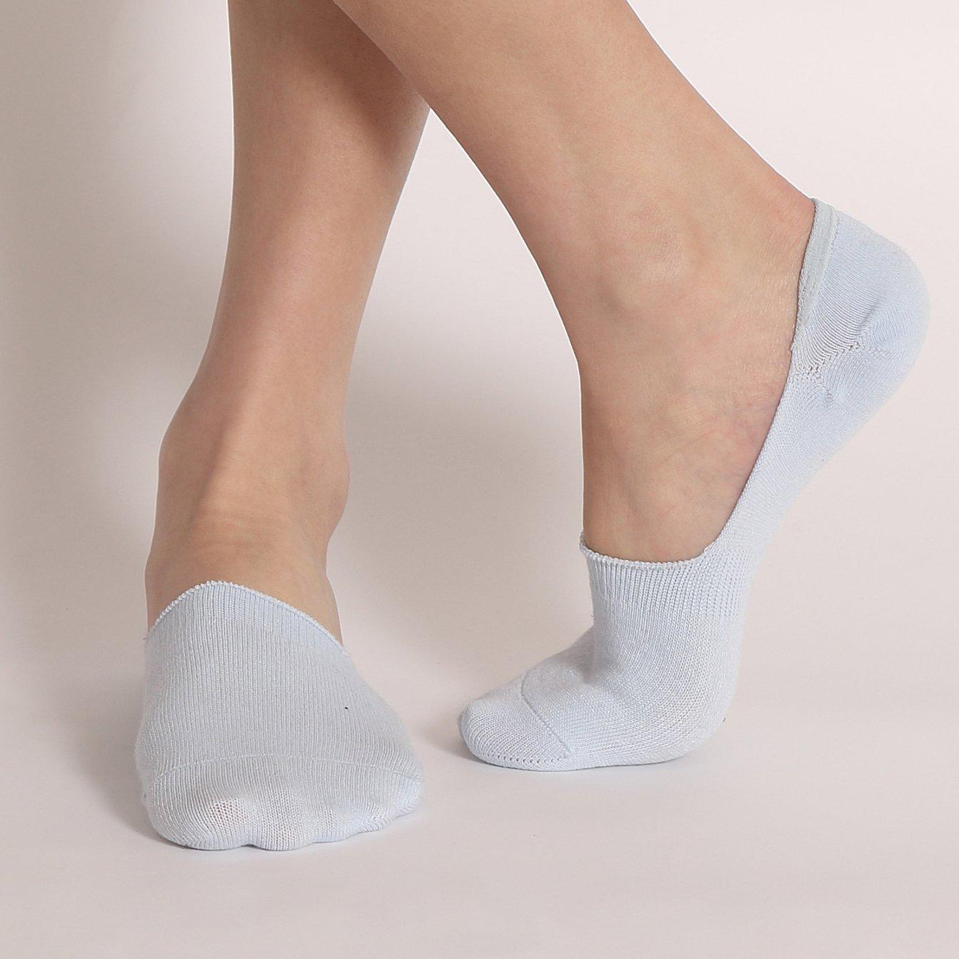 Ueither Calcetines Cortos Transpirable Calcetines Invisibles Hombre Sneaker de Deporte Algod/ón No Show Antideslizante Calcet/ínes del Tobillo