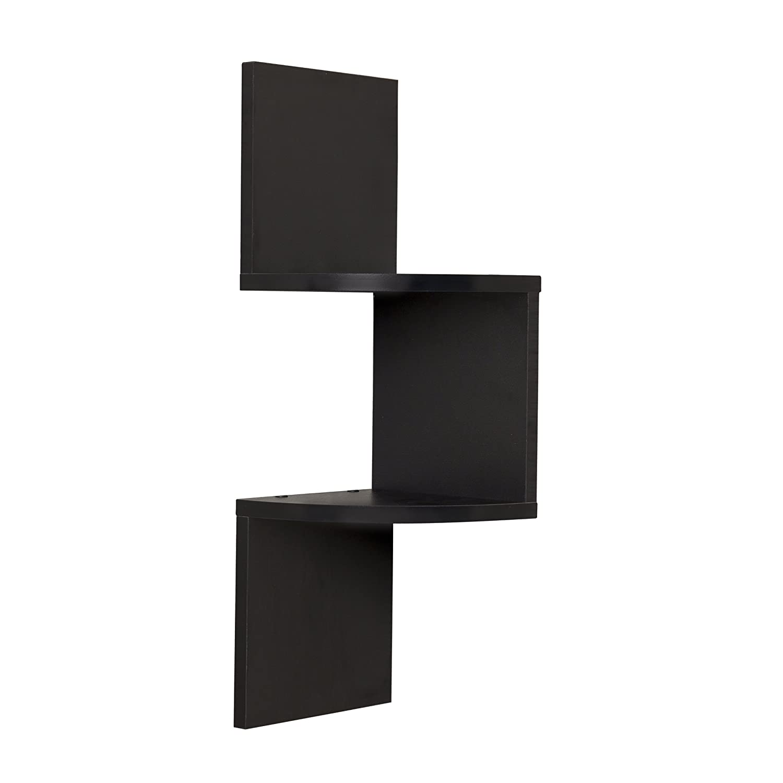 Amazon com  Danya B Laminated Corner Shelf in Black Finish  Home   Kitchen. Amazon com  Danya B Laminated Corner Shelf in Black Finish  Home