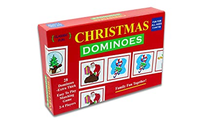 Christmas Fun.Christmas Dominoes A Fun Christmas Party Game The Original And Classic Christmas Dominoes Game With Christmas Themed Pieces For A Fun Filled
