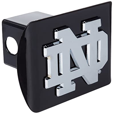 Elektroplate Chrome Notre Dame Metal Trailer Hitch Cover, Black: Automotive