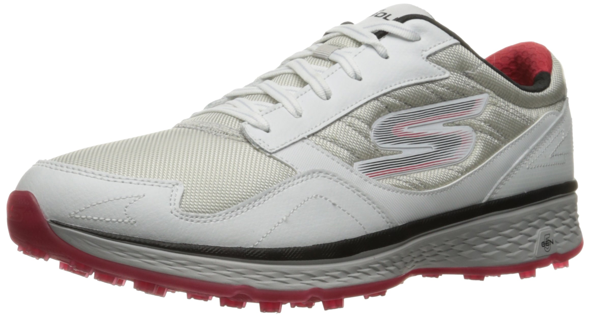 Skechers Golf Men's Go Golf Fairway Golf Shoe, White/Blue/Red, 7.5 M US