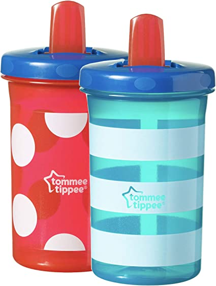 2 x 300ml Tommee Tippee Free Flow Super Sipper Bottles