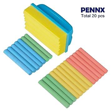 PENNX - Juego de 20 tizas de pizarra no tóxicas y duraderas ...