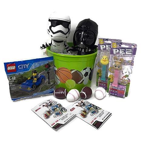 Boys Star wars Easter Gift Basket Set ~ Star Wars Darth Vader u0026 Storm Trooper 7u0026quot  sc 1 st  Amazon.com & Amazon.com: Boys Star wars Easter Gift Basket Set ~ Star Wars Darth ...