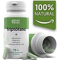 Natural Triptófano con Melatonina y Espirulina para mejorar el sueño, reducir la ansiedad,…