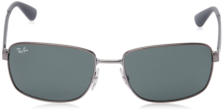 f83d1bc53d Amazon.com  Ray-Ban METAL MAN SUNGLASS - MATTE GUNMETAL Frame DARK GREEN  Lenses 58mm Non-Polarized  Clothing